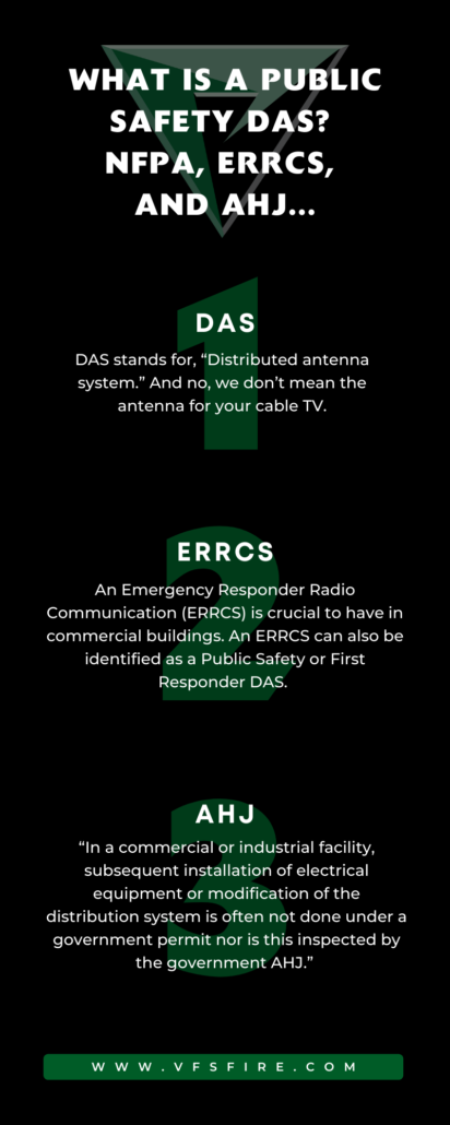 What is a Public Safety DAS? NFPA, ERRCS and AHJ (Plot Twist, these letters actually mean something...)